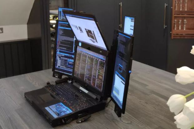 Laptop With Seven Screens