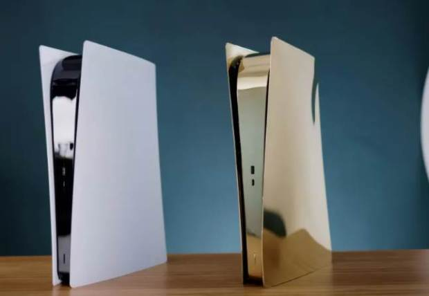 Check Out The PS5 Made Out Of Brass