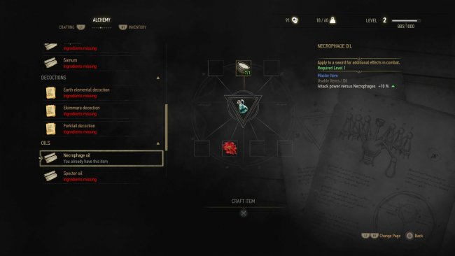 Image result for witcher 3 alchemy