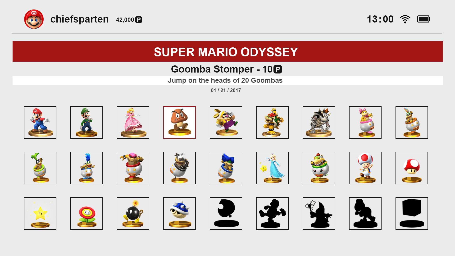 RUMOR: Nintendo trabaja en un sistema de logros para Switch