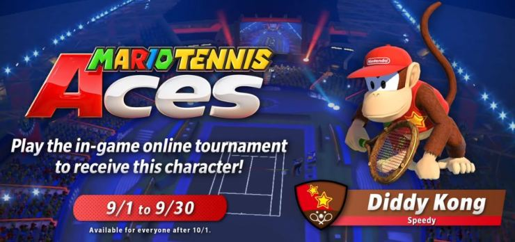Conditions to play with Diddy in Mario Tennis Aces