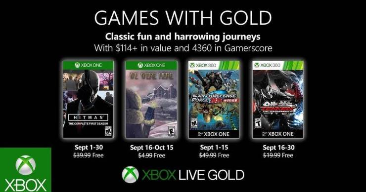 Games With Gold 2019 septiembre
