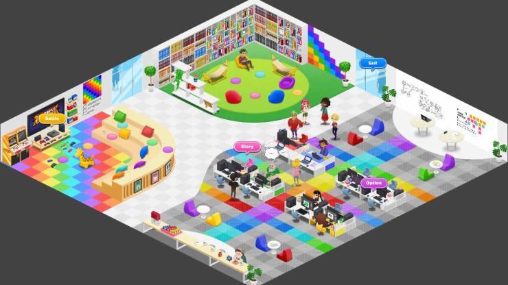 (Code Shifter) En la oficina de Awesome Rainbow Corp, los jugadores podrán acceder –mediante unos controles algo torpes– a los diferentes módulos del juego.