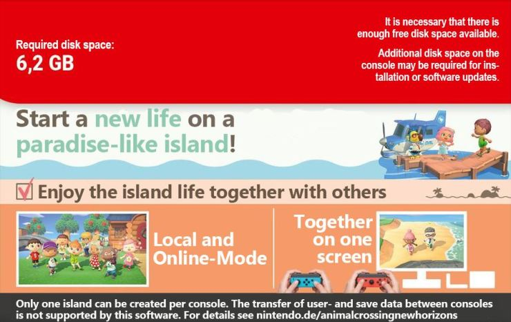 Animal crossing: new horizons transferir datos
