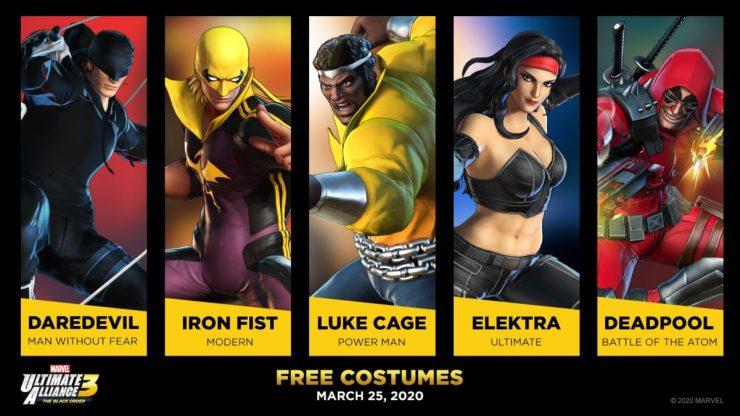 Trajes gratis Marvel Ultimate Alliance 3.