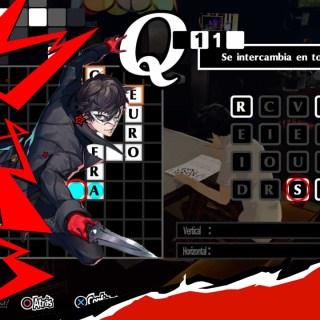 Persona 5 Royal: todas las respuestas de los crucigramas