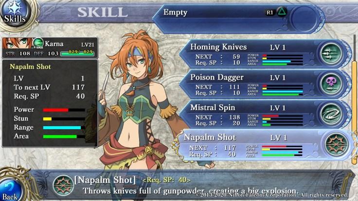 Cada personaje tiene habilidades únicas, las cuales pueden mejorarse al utilizarlas para derrotar enemigos.
