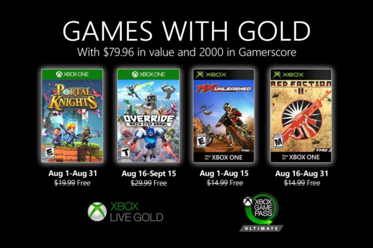 Games With Gold - Agosto - 2020 - Xbox