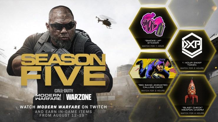 Call of Duty Warzone Modern Warfare recompensas twitch
