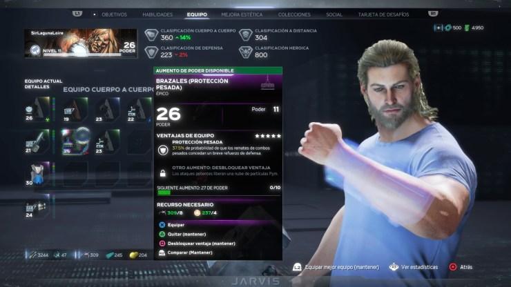 Nivel de Poder Avengers juego