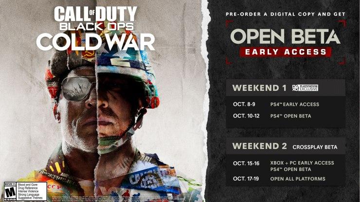 Call of Duty Black Ops Cold War - multijugador - beta - crossplay