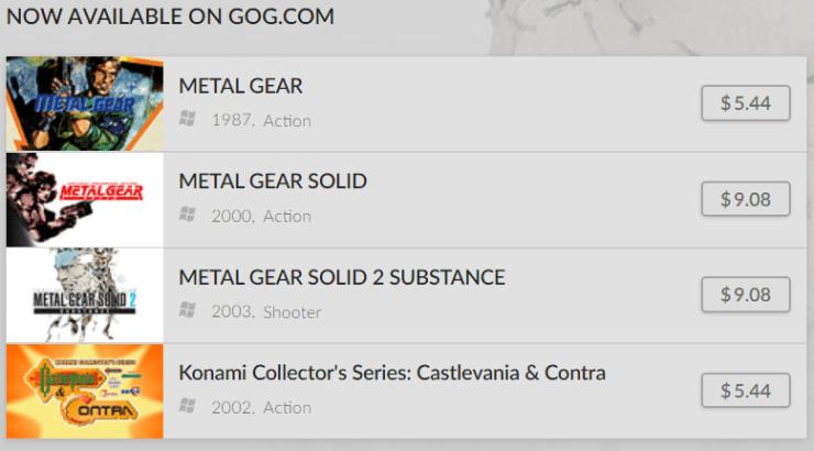 juegos konami pc gog.com
