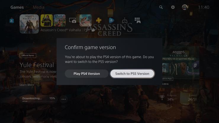 PS5 PS4 versión versiones