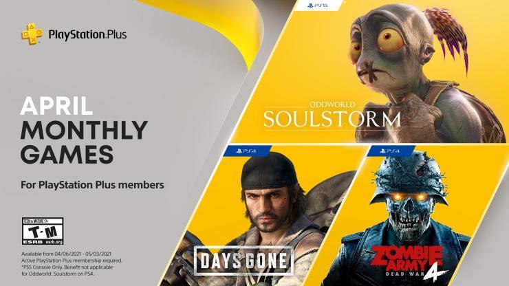 PlayStation Plus abril 2021 Oddworld Soulstorm PS5 PlayStation 5 gratis juegos PS4 PlayStation 4