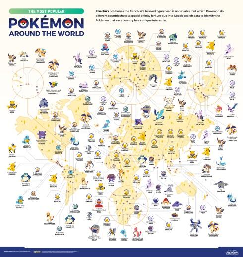 pokémon populares mundo
