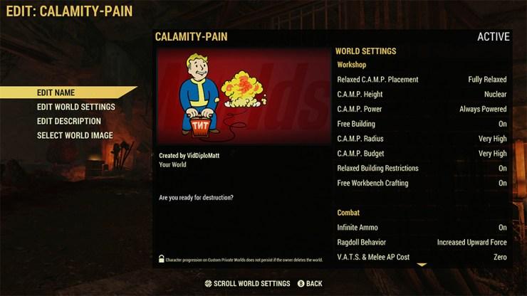 Fallout 76 tendrá mundos personalizados y públicos que podremos cambiar como queramos