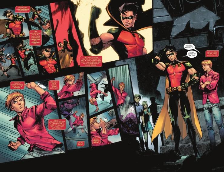 Robin Tim Drake sale del clóset como bisexual gay lgbti en un nuevo cómic de Batman