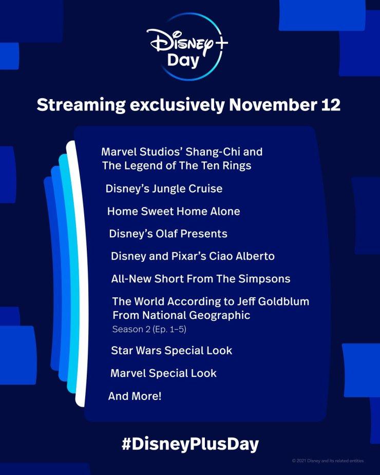Disney+ Disney Plus Shang-Chi y la leyenda de los Diez Anillos Marvel Studios Universo Cinematográfico