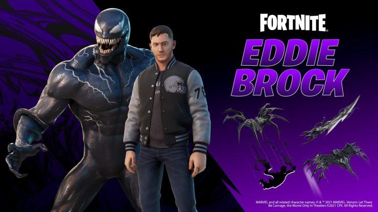 Luzcan como Tom Hardy en Fortnite con el atuendo de Eddie Brock / Venom