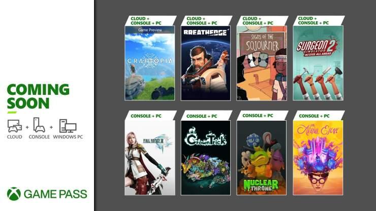 Xbox Game Pass los juegos que llegan y se van en la primera mitad de septiembre 2021 Final Fantasy XIII