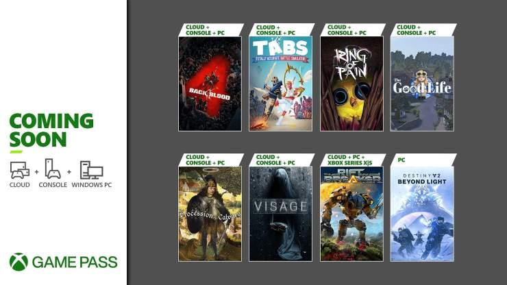 Xbox Game Pass: Back 4 Blood, Destiny 2: Beyond Light y más juegos que llegan y se van en octubre de 2021