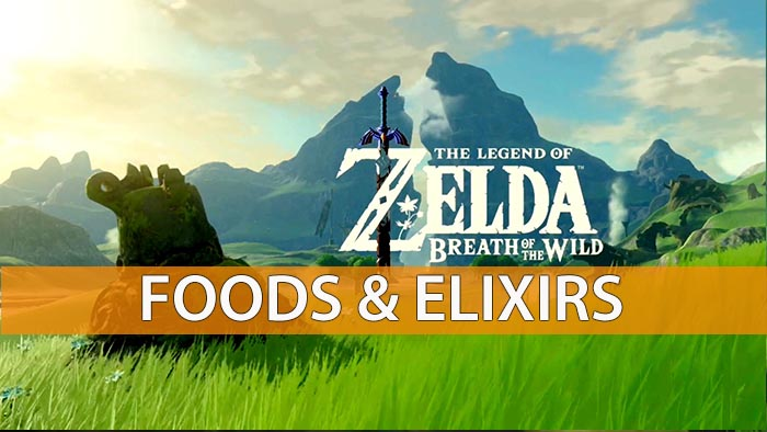 The Legend Of Zelda Breath Of The Wild Elixirs And Food Recipes