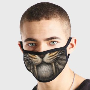Animal Tiger Fangs Non Medical 3 Ply Face Mask