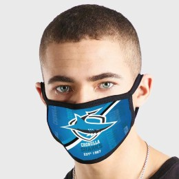 Cronulla Sharks NRL Non Medical 3 Ply Face Mask