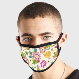 Floral Light Non Medical 3 Ply Face Mask