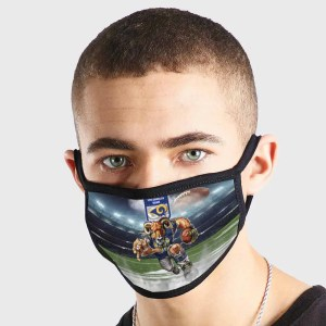 Los Angeles Rams NFL Non Medical 3 Ply Face Mask