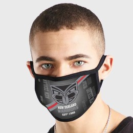 New Zealand Warriors NRL Non Medical 3 Ply Face Mask