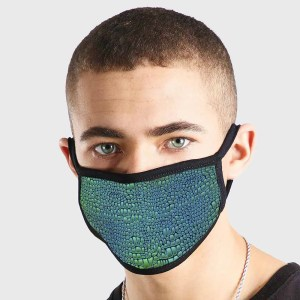 Pattern Animal Leather Green Non Medical 3 Ply Face Mask