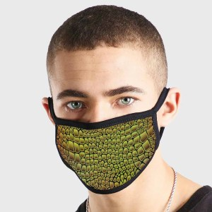 Pattern Animal Leather Non Medical 3 Ply Face Mask