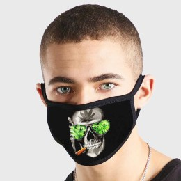 Skull Weed Glasses Non Medical 3 Ply Face Mask
