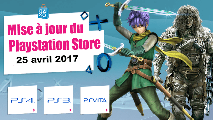 Mise à jour du Playstation Store 25 avril 2017