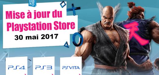 Playstation Store mise à jour 30 mai 2017