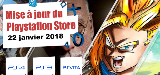 Playstation Store mise à jour du 22 janvier 2018