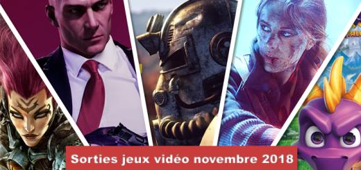 sorties jeux novembre 2018