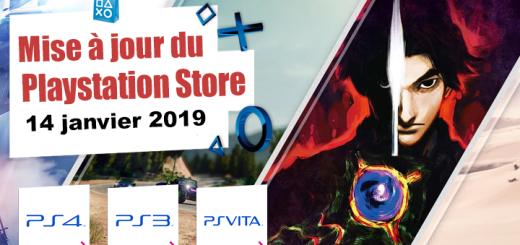 Playstation Store mise à jour du 14 janvier 2019