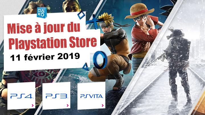 Playstation Store mise à jour du 11 février 2019