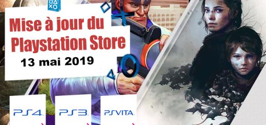 Playstation Store mise à jour du 13 mai 2019