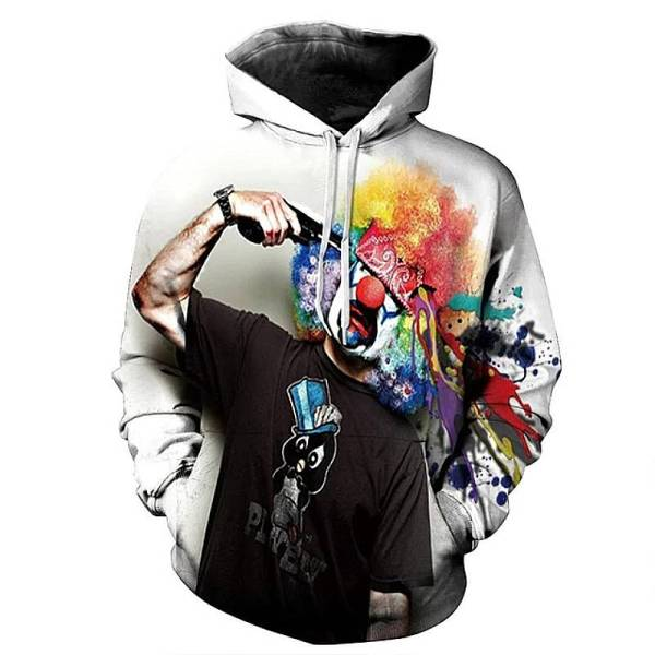 gamer-protocol-Mental clown hoodie - Front