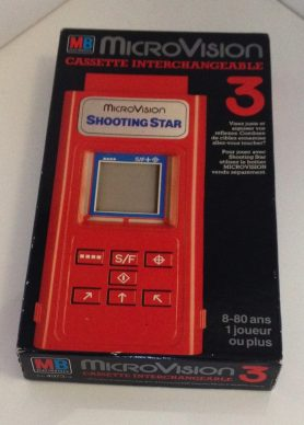 "le jeu ""Shooting Star"" dans sa boîte."