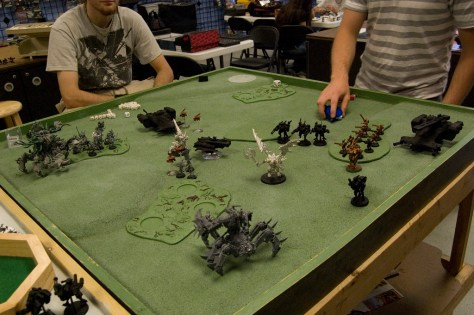 Miniature war games are about the visual spectacle, don't be that guy that shows up with greys, it sucks the joy right out of the room.