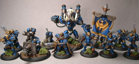 Not all miniature games require you to paint hundreds of miniatures. Games like Warmachine keep the model count small and may be more suitable for those of you looking to spend lots of hours focused on single miniatures.