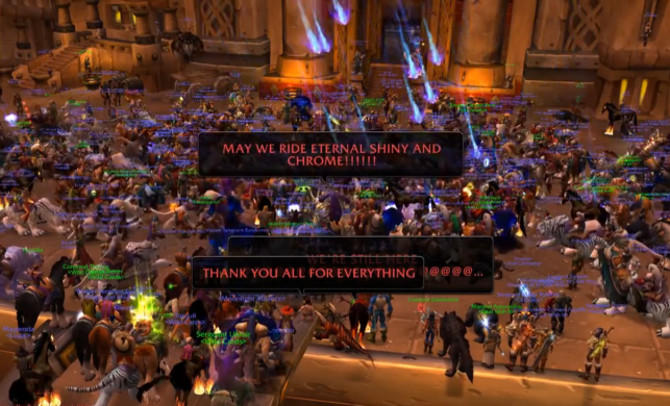 Original Nostalrius players gather in the last moments of life for the server.
