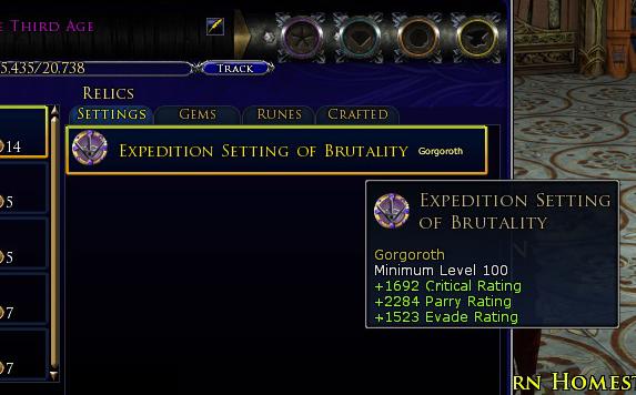 LOTRO Mordor screenshot relic preview