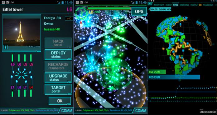 Ingress screenshot AR Game sci fi