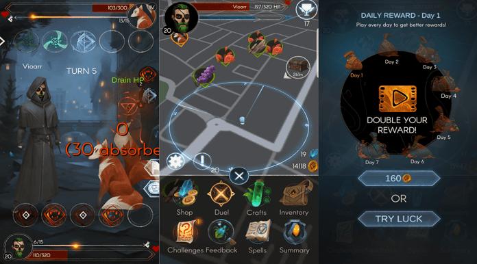 Maguss screenshots spells magic AR Game MMORPG
