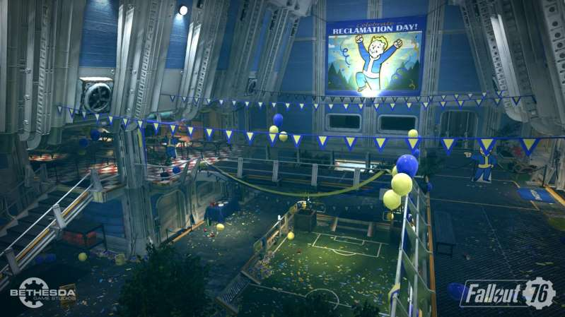 Fallout 76 Vault 76 screenshot reclamation day